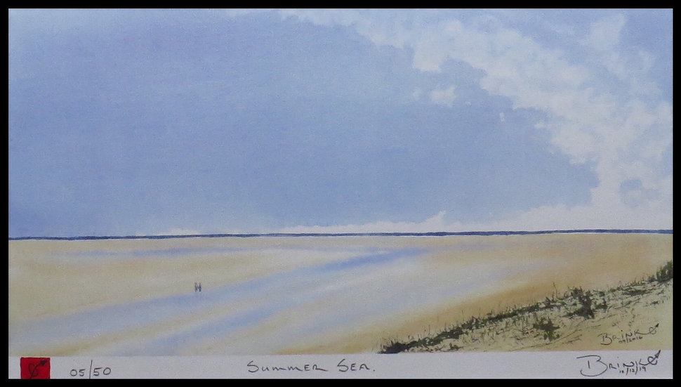 SUMMER SEA. Signed limited-edition print by Johan Brink.