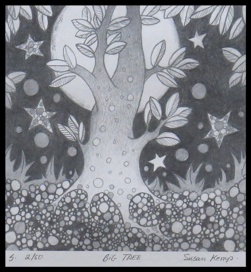 BIG TREE, signed limited-edition print, by Susan Kemp.