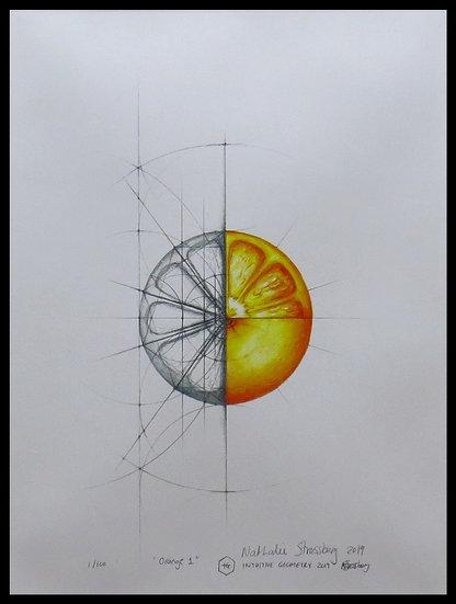 ORANGE 1. Signed, limited-edition print by Nathalie Strassburg.