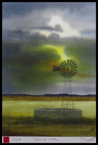 RAY OF HOPE. Signed limited-edition print by Johan Brink.