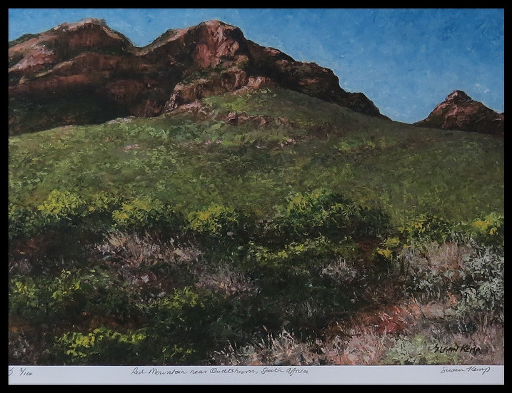 RED MOUNTAIN. Signed, limited-edition print by  Susan Kemp.