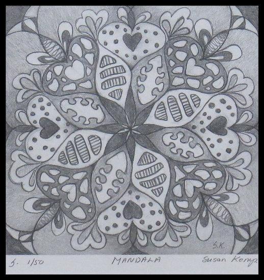 MANDALA, signed limited-edition print, by Susan Kemp.