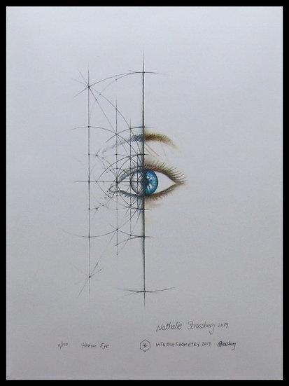 HUMAN EYE. Signed, limited-edition print byNathalie Strassburg.