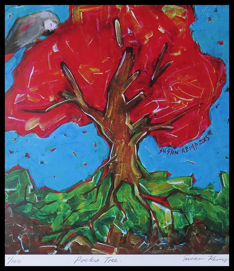 POEKIE TREE. Signed limited-edition print by Susan Kemp.