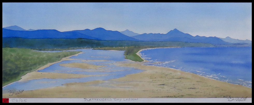 PLETTENBERG BAY LAGOON. Signed, limited-edition print by Johan Brink