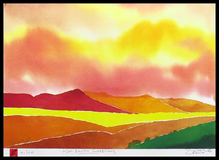 HOT EARTH CREEPING. Signed, limited-edition print by Johan Brink.