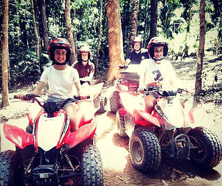 Family quadbike tour