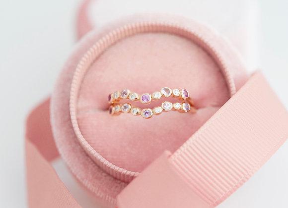 Constellation Sapphire and Diamond Ring