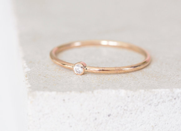 Dot Diamond Ring Rose gold