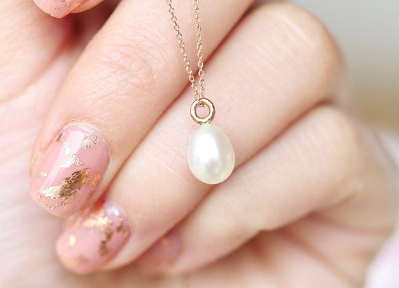 9ct Rose Gold Pearl Pendant
