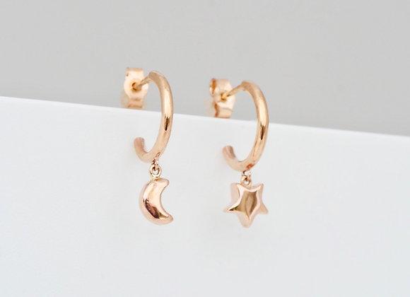 Astro Charm Hoop Earrings