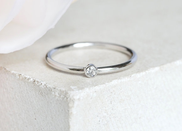 Dot Diamond Ring White gold