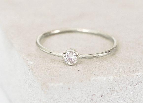 0.18ct Dainty Diamond Engagement Ring White Gold