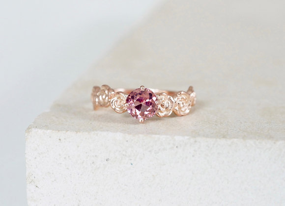 9ct Rose Gold Floral Pink Spinel Engagement ring