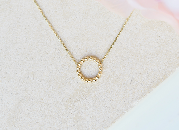9ct Gold Halo Necklace