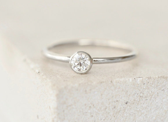 0.25ct Dainty Diamond Engagement Ring White Gold