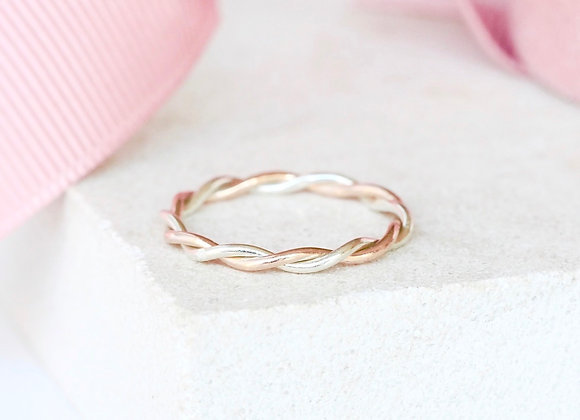 Martie Rose and white gold twist ring
