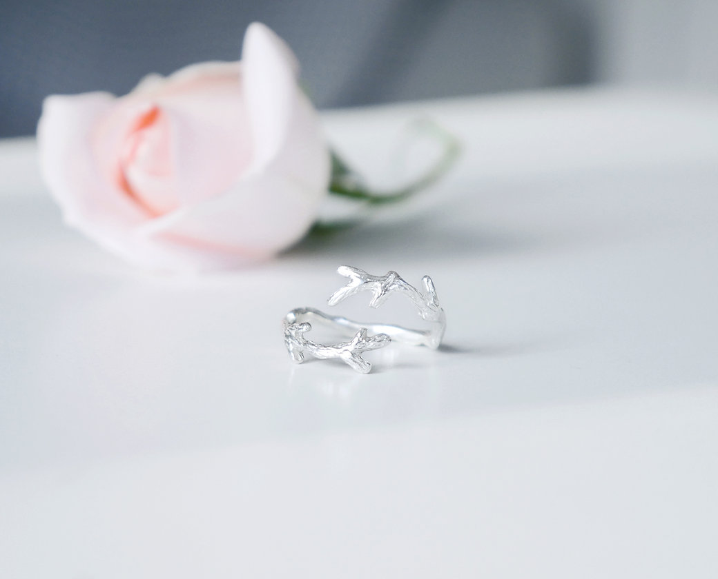Sterling Silver Branch Ring Antonia Lawes