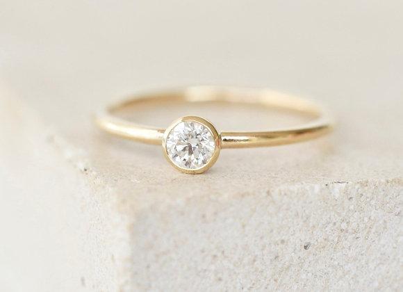 0.25ct Dainty Diamond Engagement Ring Yellow Gold