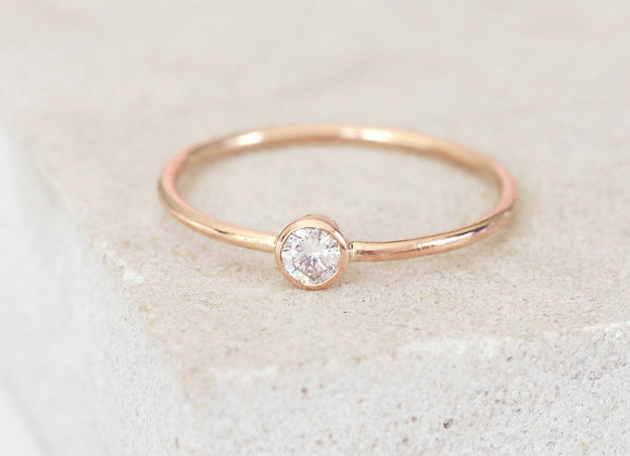 0.18ct Dainty Diamond Engagement Ring Rose Gold