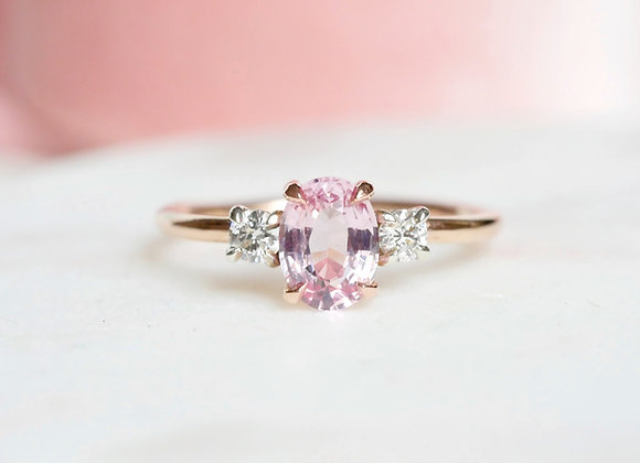 Blush Spinel and Diamond ring