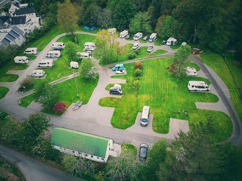 Aerial Reraig Camping