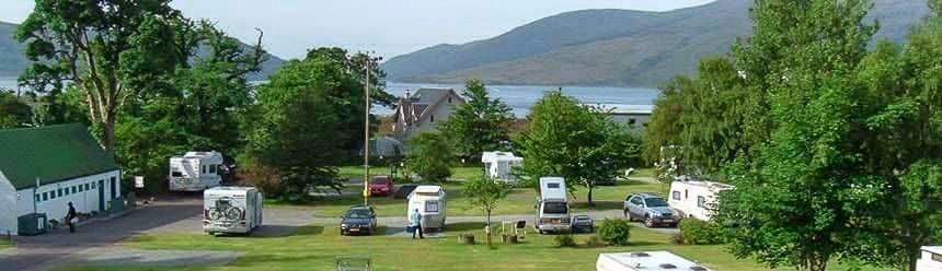 Reraig campsite view