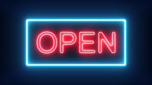 Open Tuesday Trough Sunday This Week!