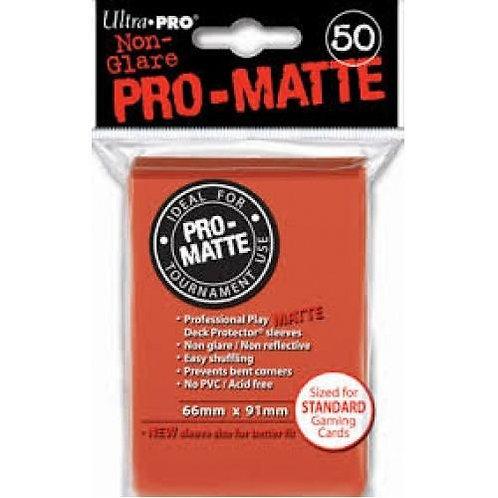 UltraPRO 50ct Matte Peach Sleeves