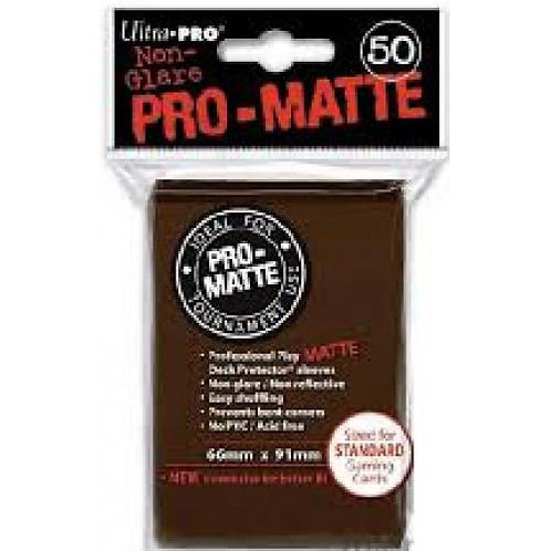 UltraPRO 50ct Matte Brown Sleeves