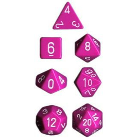 Chessex Opaque Light Purple / White Polyhedral 7 - Die Set 25427