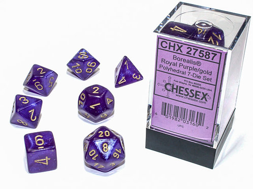 Chessex Luminary 27587 Borealis Royal Purple/Gold