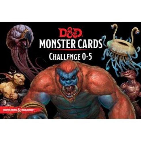 D&D Monster Cards - Challenge 0-5