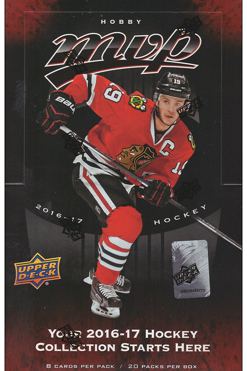 2016-17 Upper Deck MVP NHL Hockey Hobby Box