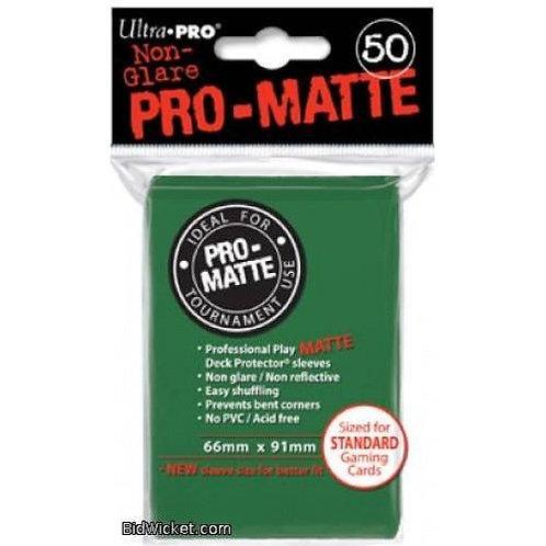 UltraPRO 50ct Matte Green Sleeves