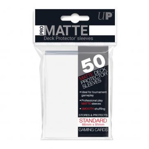 UltraPRO 50ct Matte White Sleeves