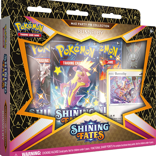 Pokemon Shining Fates Mad Party Pin Collection -Bunnelby