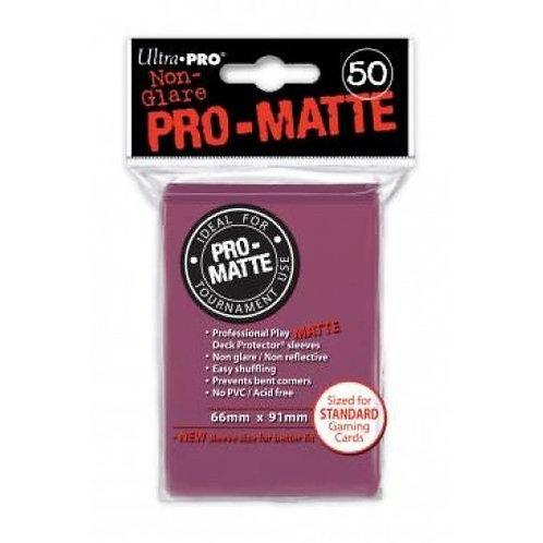 UltraPRO 50ct Matte Blackberry Sleeves