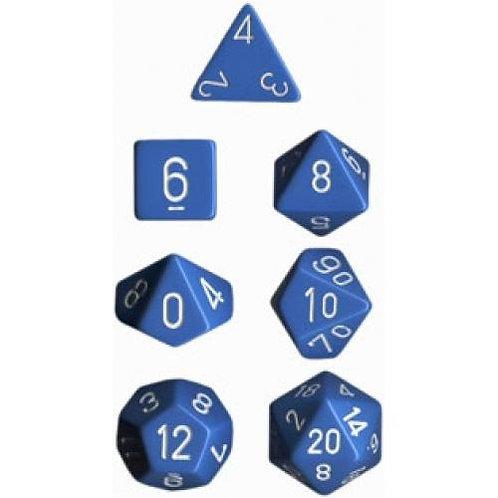 Chessex Opaque Light Blue / White Polyhedral 7 - Die Set 25416