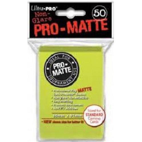 UltraPRO 50ct Matte Bright Yellow Sleeves