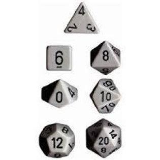 Chessex Opaque Dark Grey / Black Polyhedral 7 - Die Set 25410