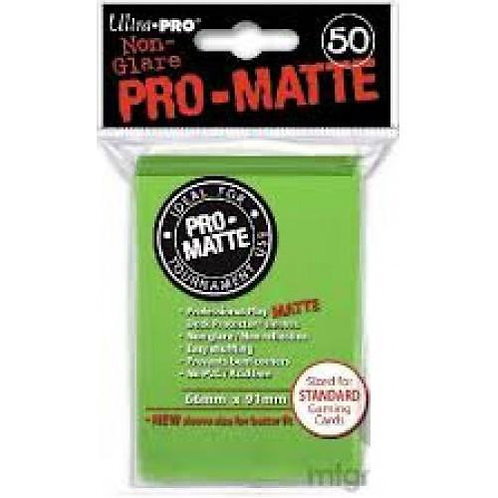 UltraPRO 50ct Matte Lime Green Sleeves