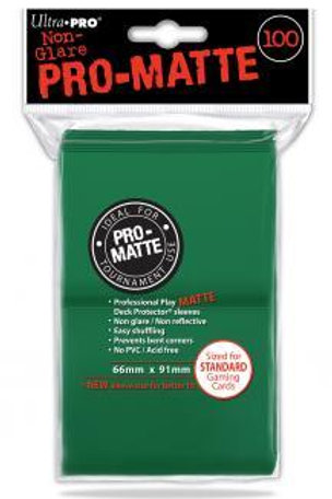 UltraPRO D-Pro Pro-Matte Sleeves 100ct - Green