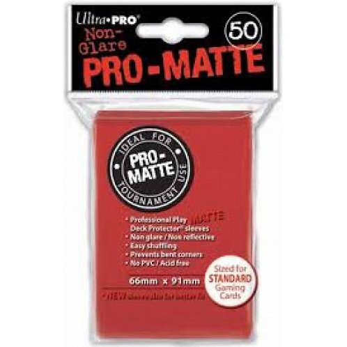 UltraPRO 50ct Matte Red Sleeves