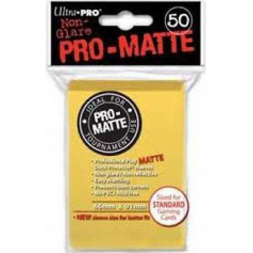 UltraPRO 50ct Matte Yellow Sleeves