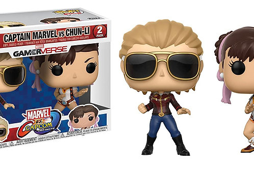 Funko POP! - Captain Marvel Vs. Chun-Li (2-Pack)