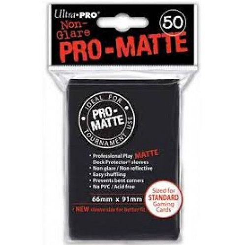 UltraPRO 50ct Matte Black Sleeves