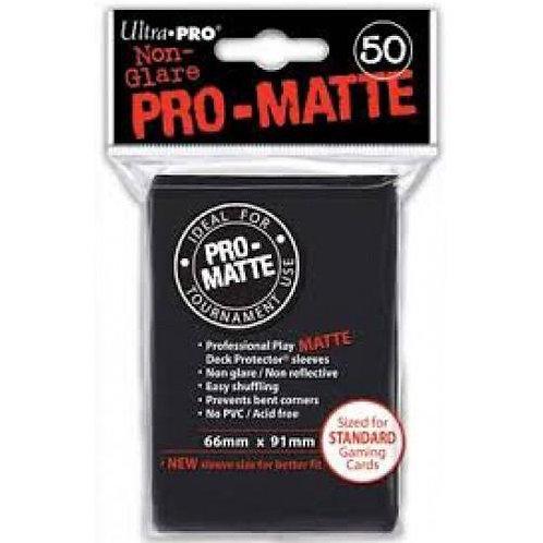 UltraPRO 50ct Matte Black Sleeves