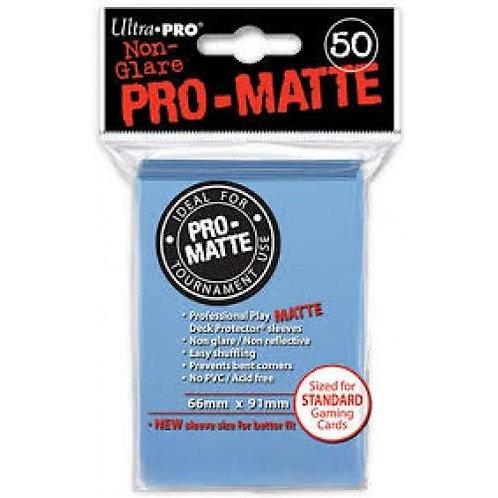 UltraPRO 50ct Matte Light Blue Sleeves