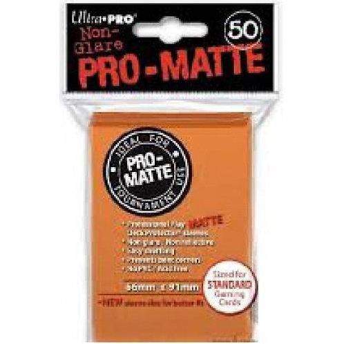 UltraPRO 50ct Matte Orange Sleeves